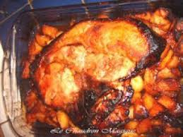 cuisiner rouelle de porc rouelle de porc caramélisée et pommes de terre confites au miel