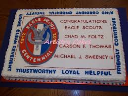 eagle scout cake topper individual eagle scout cakes 16 single layer fondant covered
