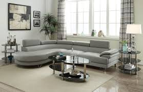 Faux Leather Sectional Sofa With Chaise Poundex F6984 Faux Leather Sectional Sofa With Chaise