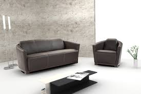 Set Sofa Modern Hotel Leather Sofa Set