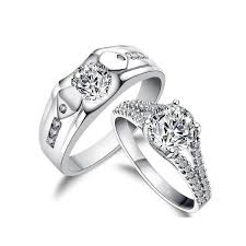 his and hers engagement rings sets 3 carats his and matching antique style cz wedding ring set
