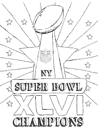 super bowl champions coloring page kids coloring pages