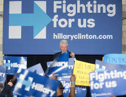 Bill Clinton Hometown by Protestors Interrupt Bill Clinton At Philadelphia Rally For