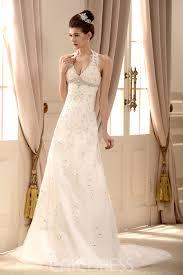 halter neck wedding dresses lace halter v neck a line wedding dress 10532775 ericdress