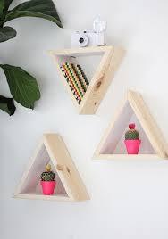 Triangle Shaped Bookcase My Diy Hexagon Shape Shelves