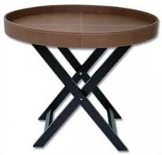 leather tray for coffee table leather oval butler s tray table leather furniture