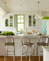 painting a window for a bright pop of color white green kitchen