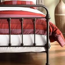 amazon com antique finish dark bronze queen size metal bed this