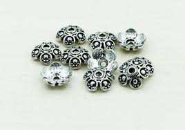 silver plated bead necklace images 10 mm bali style silver plated bead caps for jewelry making jpg