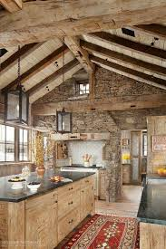 rustic stone and log homes modern stone and log homes i love the rustic look of a wood and stone kitchen pole barn