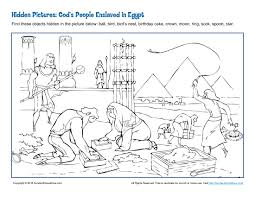 god u0027s people enslaved in egypt hidden pictures activity hidden
