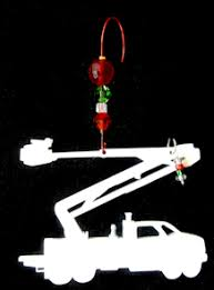 tnt truck tree ornament linemen
