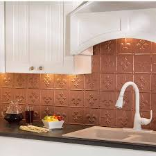 copper backsplash for kitchen fasade backsplash fleur de lis in argent copper
