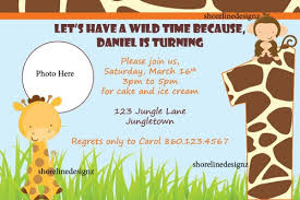 theme invitations personalized jungle theme birthday or baby shower invitation you
