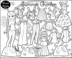Summer Garden Dresses - paper doll dress up set summer garden