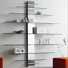 Wall Shelving Units by Wall Mount Shelves Wall Mounted Glass Shelving Unit Bedroom