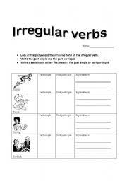 irregular verbs test with pictures