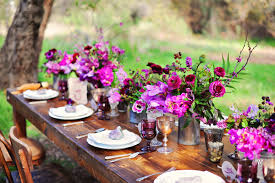 Purple Centerpieces Centerpieces Ruffled
