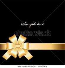 black and gold ribbon vector illustration gold bow on black stock vector 402908614