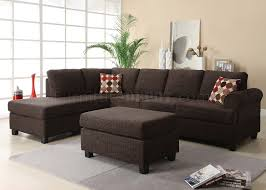 Reversible Sectional Sofa 50540 Donovan Reversible Sectional Sofa In Onyx Fabric By Acme