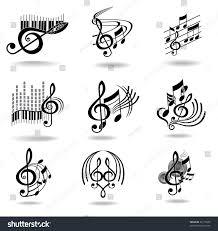 music notes set music design elements stock illustration 96179645