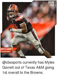 Cleveland Brown Memes - wap myles garrett cleveland browns round 1 pick currently has myles