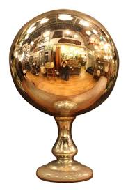 Gazing Ball Pedestals Large Antique Mercury Gazing Ball Olde Good Things