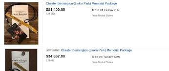 funeral packages chester bennington s funeral service packages are being auctioned