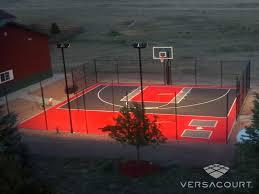 Sports Courts For Backyards Versacourt Indoor Outdoor U0026 Backyard Basketball Courts
