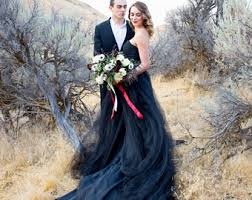black wedding dress black wedding dress etsy