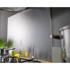 plaque aluminium cuisine fond de hotte inox h 70 cm x l 90 cm leroy merlin
