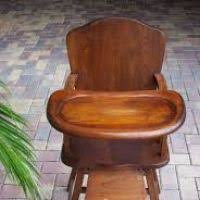 Antique Wooden High Chair Vintage Wood High Chairs For Babies Thesecretconsul Com