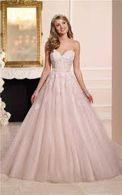 dusty wedding dress gown strapless sweetheart dusty pink tulle lace wedding dress gold