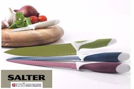Coloured Kitchen Knives Set Salter Colour Collection 6 Piece Kitchen Knife Set U003e Jt Rewards