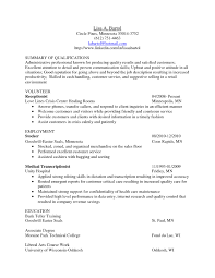 Sample Resume For Entry Level Bank Teller Sample Resume Summary Summary Of Qualifications Administrative