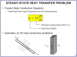 steady state heat transfer problem 5 governing diffeial equation
