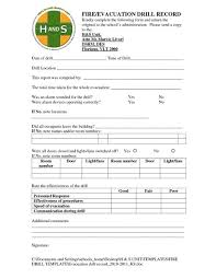 emergency drill report template mock drill plan emergency drill template