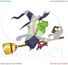 royalty free rf clipart illustration of a wicked halloween witch