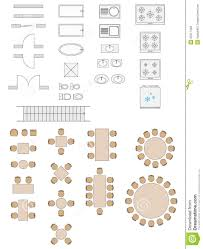 Architecture Symbols Floor Plan Standard Symbols Used In Architecture Plans Royalty Free Stock