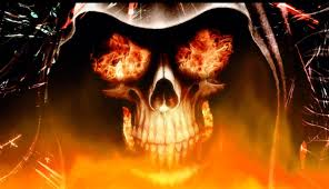 animated halloween wallpaper fire skull animated wallpaper