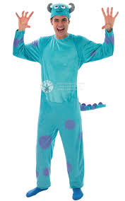 monsters inc halloween costumes adults sully monsters inc fancy dress fun mens movie halloween