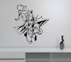 wall decals stickers home decor home furniture diy thor wall decal superhero vinyl sticker marvel comics art room bedroom decor th2