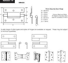 Security Hinges For Exterior Doors Security Door Hinges Ullrich Fasteners Catalogue