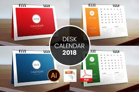 desk calendar template 2018 stationery templates creative market