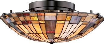 Quoizel Flush Mount Ceiling Light Quoizel Tfik1617va Inglenook Valiant Bronze Flush Mount