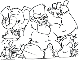 african mask coloring pages gorilla coloring pages best coloring page