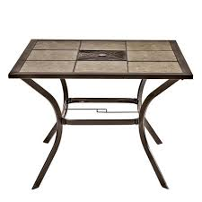 Patio Furniture Boise by Charleston 40 Inch Square Tile Top Patio Table Shopko