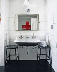 Industrial Bathroom Vanities by Mix And Chic Home Tour An Industrial Chic Texas Duplex