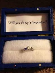 doctor who engagement ring engagement box and