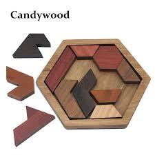 wood geometric puzzles wooden toys tangram jigsaw board wood geometric shape